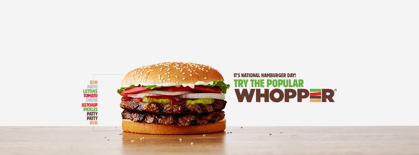 Sandwich phare burger king the whopper