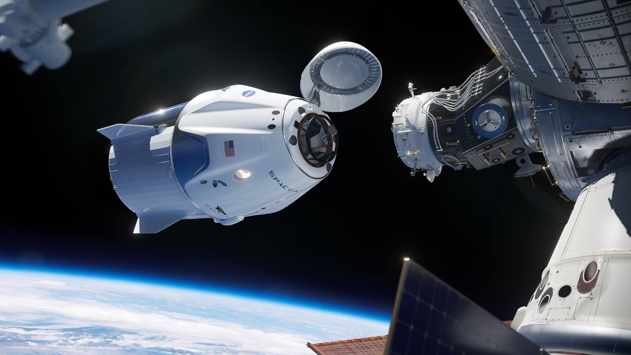 Fusée SpaceX dans l'espace